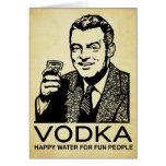 Tarjeta retra de la vodka