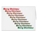 Tarjeta retra de las Felices Navidad