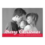 Tarjeta retra de las Felices Navidad de la Invitación 12,7 X 17,8 Cm