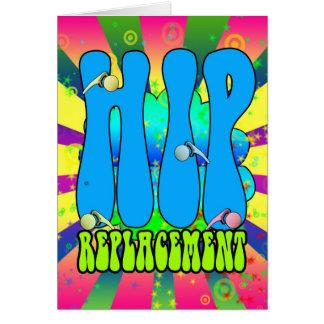 Tarjeta retra de los años 60 del Hippie del reempl