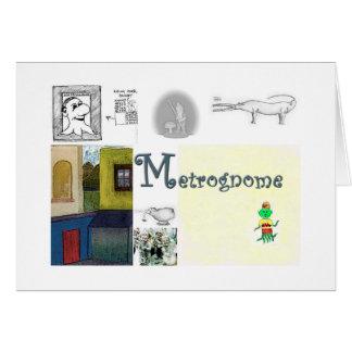 Tarjeta retra de Metrognome