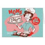 Tarjeta retra del día de madre de la panadería de