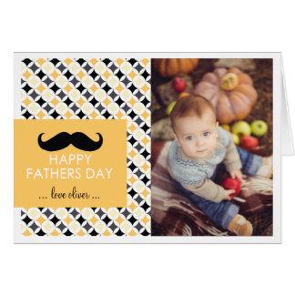 Tarjeta retra del día de padre del bigote del mode