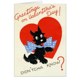 Tarjeta retra del el día de San Valentín