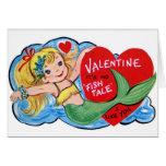 Tarjeta retra del el día de San Valentín de la sir