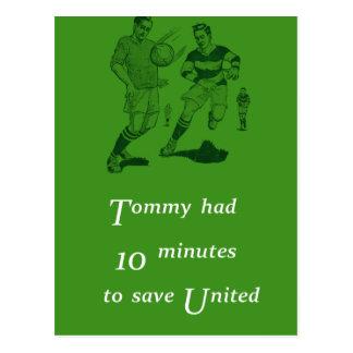Tarjeta retra del fútbol tarjeta postal