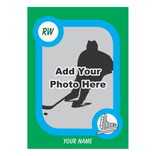 Tarjeta retra del hockey plantillas de tarjetas personales