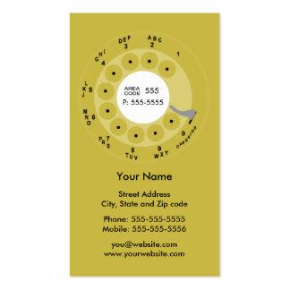 Tarjeta retra del negocio/del perfil del amarillo tarjetas de visita
