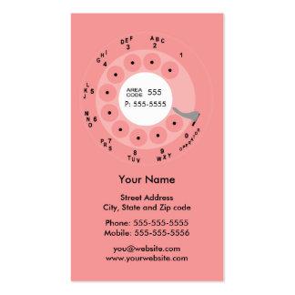 Tarjeta retra del negocio/del perfil del rosa del tarjetas de visita