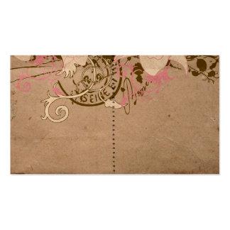 Tarjeta retra del perfil tarjetas personales
