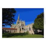 Tarjeta retra del poster-estilo de la catedral de