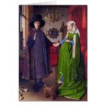 Tarjeta: Retrato de boda en enero Van Eyck