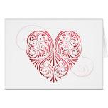 Tarjeta rizada de la tarjeta del día de San Valent