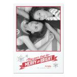 Tarjeta roja americana de la foto del día de invitación 12,7 x 17,8 cm