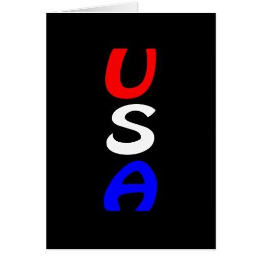 Tarjeta roja, blanca y azul de los E.E.U.U.
