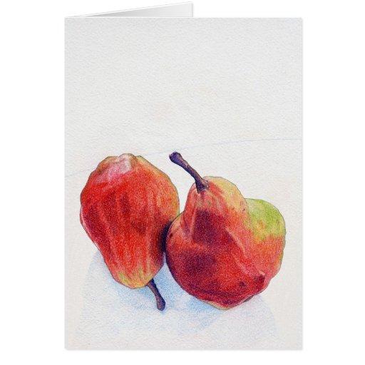 Tarjeta roja de dos peras
