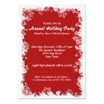 Tarjeta roja de la celebración de días festivos anuncios