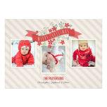 Tarjeta roja de la foto de las Felices Navidad 3 d