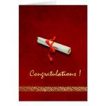 Tarjeta roja de la graduación