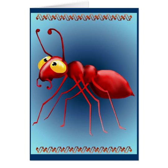 Tarjeta roja de la hormiga