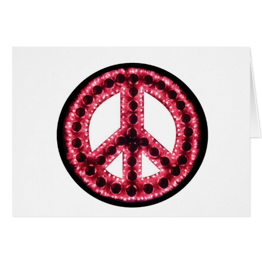 tarjeta roja de la paz