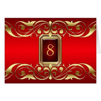 Tarjeta roja de la tabla de la voluta del oro de l