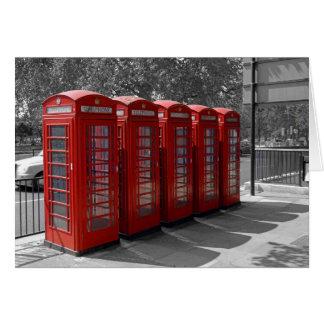 Tarjeta roja de las cabinas de teléfonos de Londre