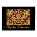 Tarjeta roja de las tarjetas del día de San Valent