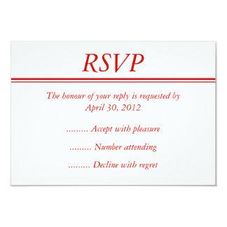 Tarjeta roja del acontecimiento RSVP, de la Comunicados Personalizados