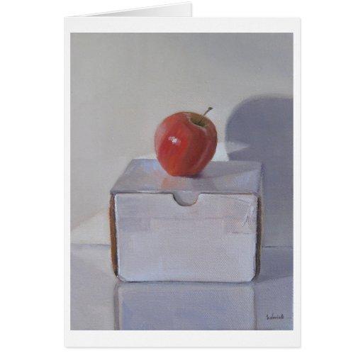 Tarjeta roja del arte de Apple