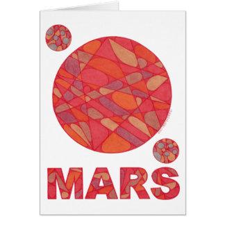 Tarjeta roja del arte del planeta de Marte