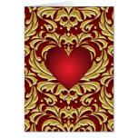 Tarjeta roja del día de San Valentín del corazón d