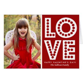 Tarjeta roja del el día de San Valentín de la
