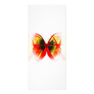 Tarjeta roja del estante de la mariposa tarjetas publicitarias a todo color