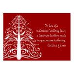 Tarjeta roja del favor de la caridad del boda del  tarjetas de visita