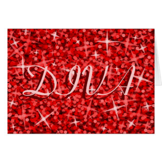 Tarjeta roja del feliz cumpleaños de la DIVA d