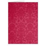 Tarjeta roja del fondo del vintage