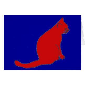 Tarjeta roja del gatito