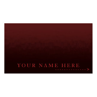Tarjeta roja del llano de la ciudad de la tarjetas de visita