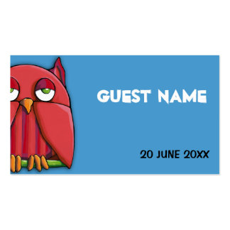 Tarjeta roja del lugar del cumpleaños de la aguama tarjetas de visita