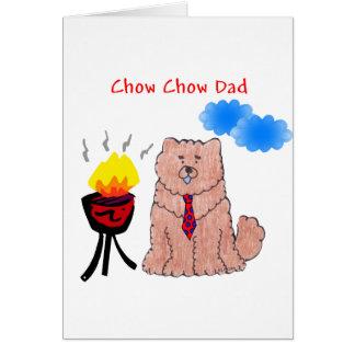 Tarjeta roja del papá del perro chino de perro chi