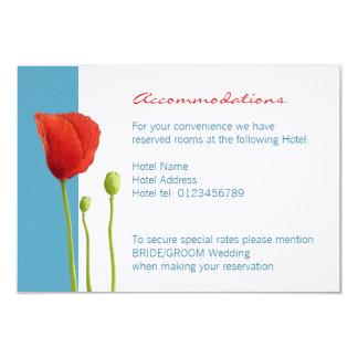 Tarjeta roja del recinto de la aguamarina de la invitación 8,9 x 12,7 cm