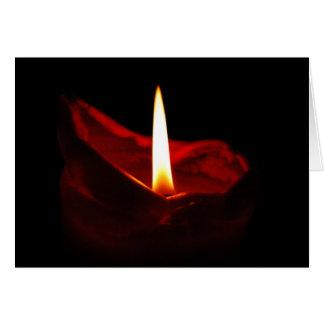 Tarjeta roja en blanco de la vela