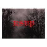 Tarjeta roja frecuentada de RSVP de la niebla del  Comunicados Personalizados