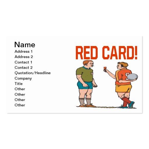 Tarjeta roja plantillas de tarjetas personales
