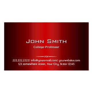Tarjeta roja profesional del profesor visita del m tarjetas de visita