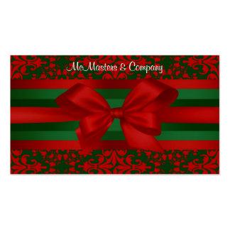 Tarjeta roja y verde de la apariencia vintage del tarjetas de visita