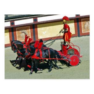 Tarjeta romana del carro postales