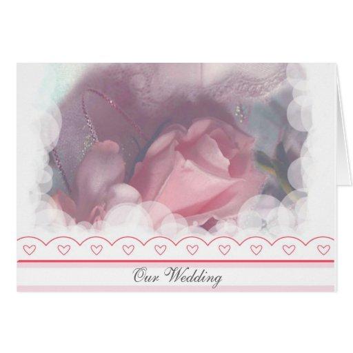 Tarjeta romántica de la invitación del boda