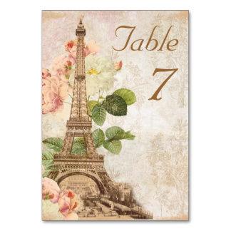 Tarjeta romántica de la tabla del vintage color de